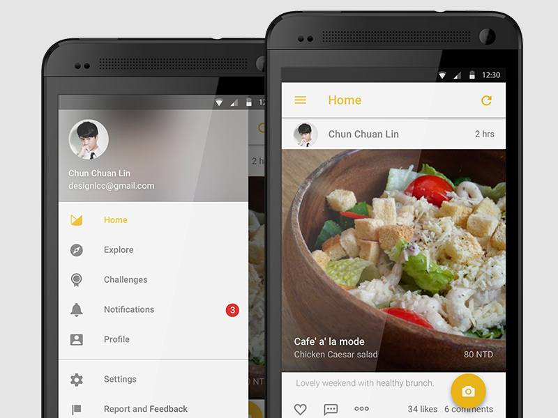 MENU Redesign design material interface anroid ios