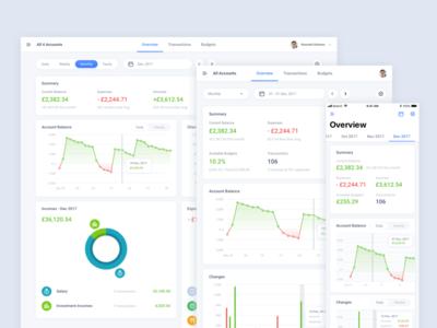 Finance App interface design ux ui