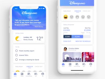 Employee Engagement App Concept interface design ux ui