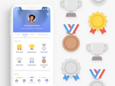 Employee Engagement App Concept ios interface design ux ui