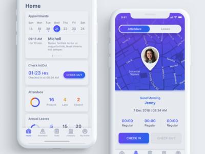 Payroll & HR App Concept ux interface design ui