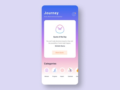 Journey Motivational App
