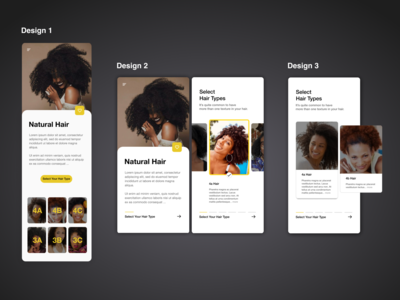 Natural Hair Care Concept Designs