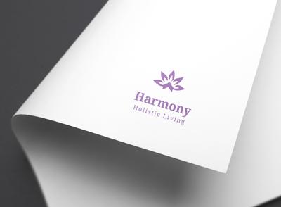 Harmony Holistic Living Logo MockUp