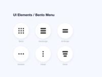 UI Elements- Bento Menu