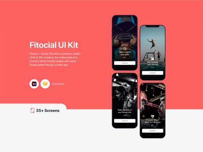 Fitocial UI Kit ios app design mobile ui uiuxdesign adobexd health app ui kit design fitness ui kit