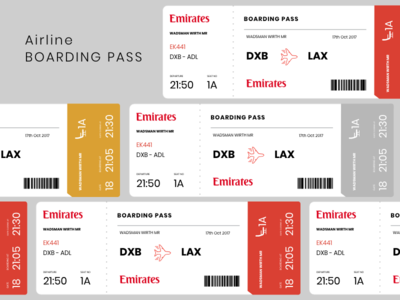 Emirates Boarding Pass Concept