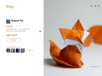 Etsy Minimalistic Product Page