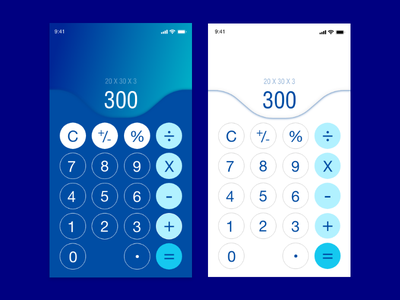 Daily UI Challenge #004 - Calculator adobexd simple dark light calculator challenge dailyui