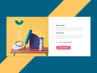 Login Page adobe xd signup solid color clean simple page login