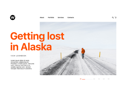 Website Cover UI Kit photography ice orange pics portfolio banner covers ui kit