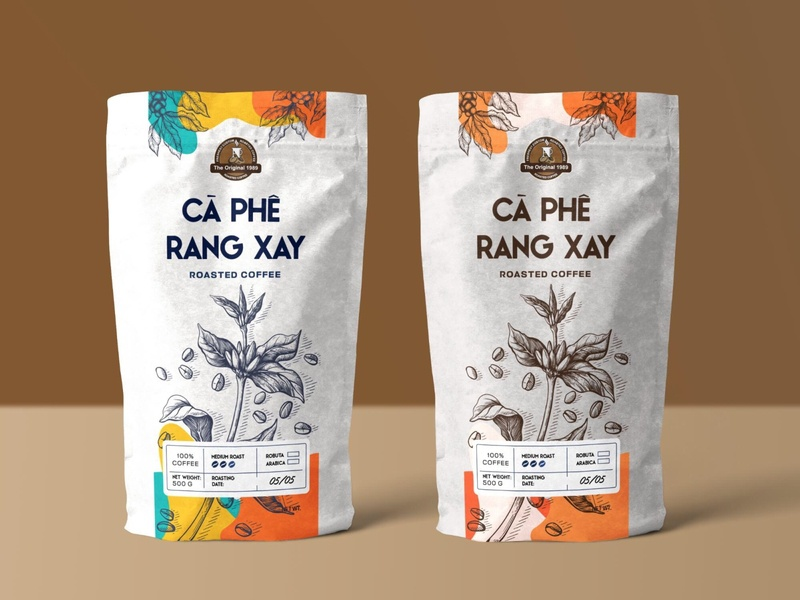 Coffee packaging bag packaging design package design packaging package coffee bag coffee packaging coffee graphic  design design a day thietkecotam maydesign