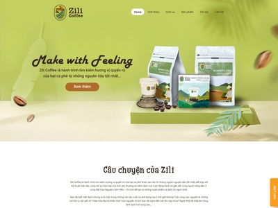 Zili coffee layout web uxui layout coffee coffee layout layoutdesign layout design layout layoutweb ui design a day thietkecotam maydesign