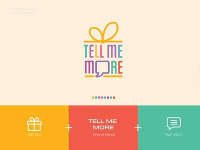 Tell Me More / Branding overlappingelements brand gift box gifts gift boxgift box design box tellmemore logodesign design agency namecard branding design logo branding graphic  design thietkecotam maydesign design a day