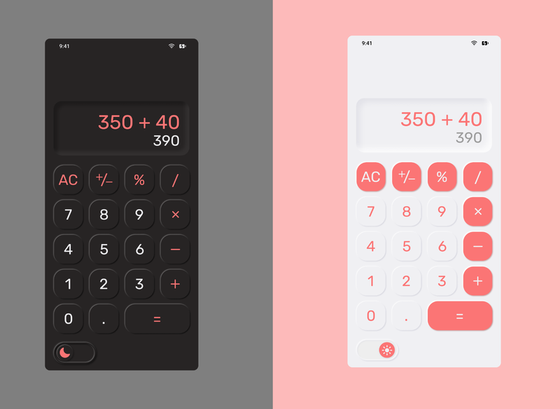 Daily UI Challenge 4/100: Calculator daily ui 004 app ui ux design dailyui