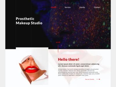 Prosthetic Makeup Studio Website - Landing page