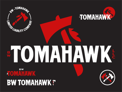 BW Tomahawk Brand Assets new player badge bold drafted graphic design illustration icon typography branding logo