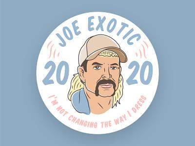 The man. The myth. The legend. Joe Exotic 2020 designer icon branding badge typography logo graphic design design vector illustration