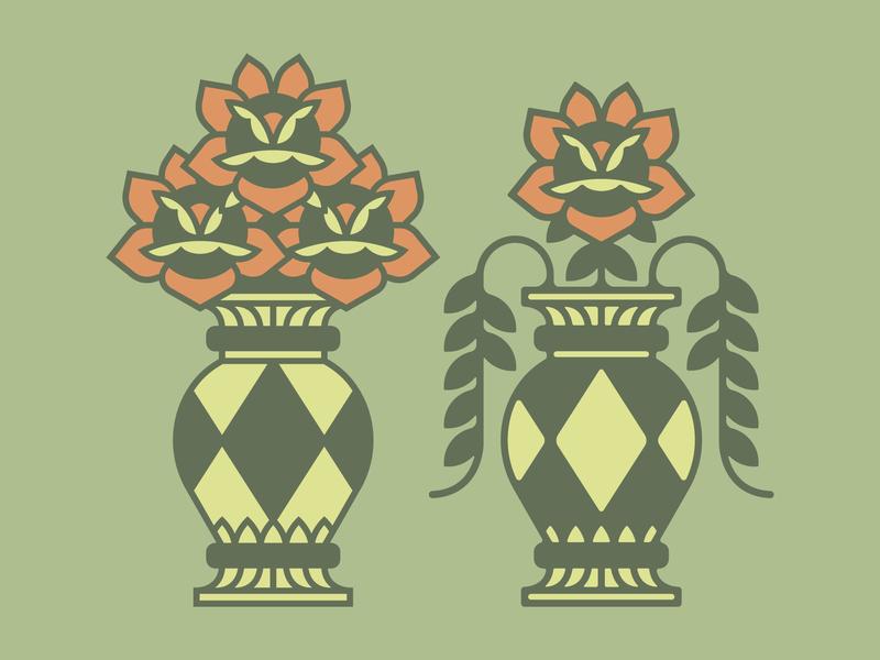 Flower Vase Study floral vector illustration