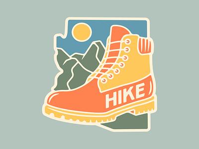 Hike Arizona Sticker repost new player logo arizona design vector illustration