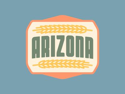 Arizona Badge vector illustration graphic design logo badge design