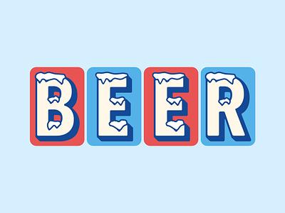 Ice Cold Beer typedesign typogaphy beer graphic design vector design illustration