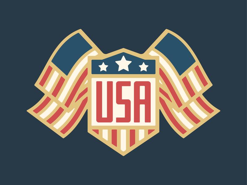 Happy 4th of July! badge logo typography bold graphic design design vector illustration