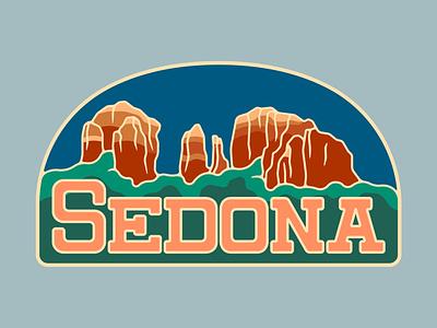 Revised Sedona Badge rebound designer bold badge graphic design arizona design vector illustration