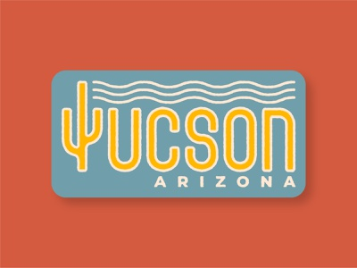 Lil' Tucson Logo designer badge typography arizona graphic design logo vector design illustration