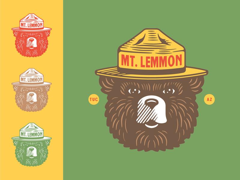 Smokey Bear Illustration branding bold badge typography arizona graphic design logo vector design illustration