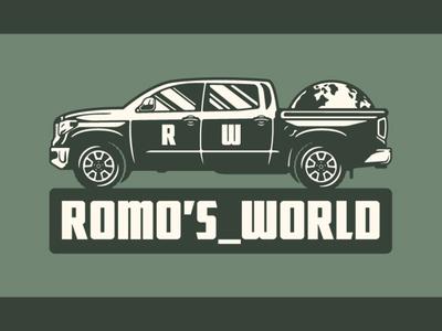 ROMO'S_WORLD Logo branding bold badge typography arizona graphic design logo vector design illustration