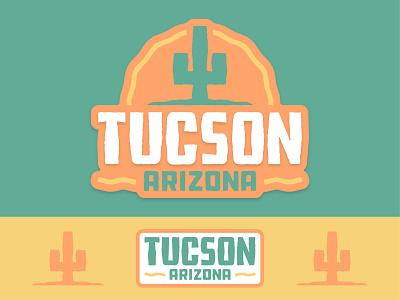 Tucson, AZ Logo icon branding badge typography arizona graphic design logo vector design illustration
