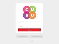 CUSU Login Page