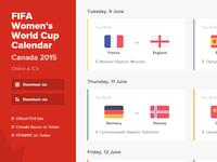 Women's World Cup Calendar