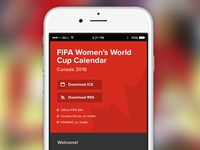 Women's World Cup Calendar (Mobile)