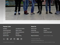 CUSU Website Footer