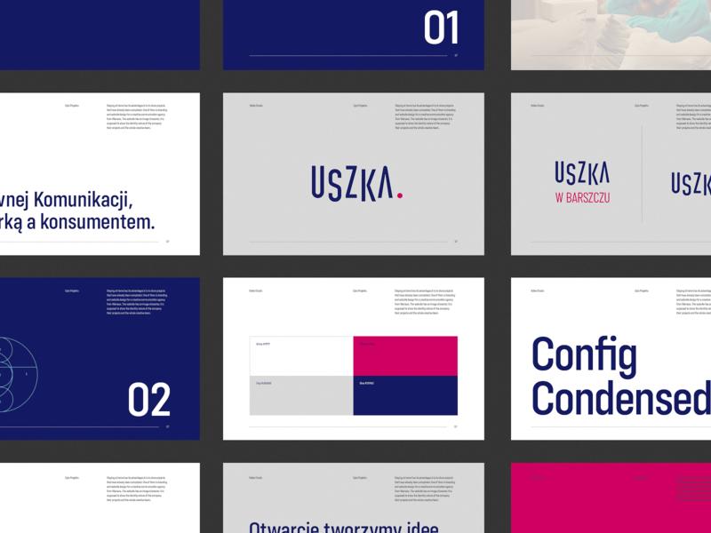 Uszka | Creative Communication Agency minimal clean logotype identity vector agency system brandbook brand identity brand design brand create logo tyshchenko branding vanwalko yobko