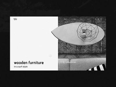 WAVE WOOD | Surf-Style Furniture design layout furniture startup company agency warsaw simply minimal web website branding www ux ui vanwalko tyshchenko yobko