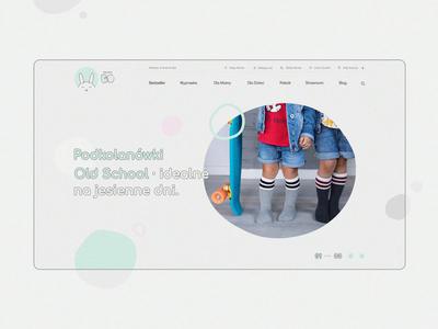Kraina Bo | Children's boutique header slider children kids mainpage animation design product usability new web minimal vanwalko website www ux ui branding tyshchenko yobko