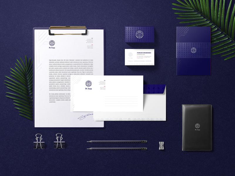 M.Tree black studio yobko collection blue naming logo mtree brand branding