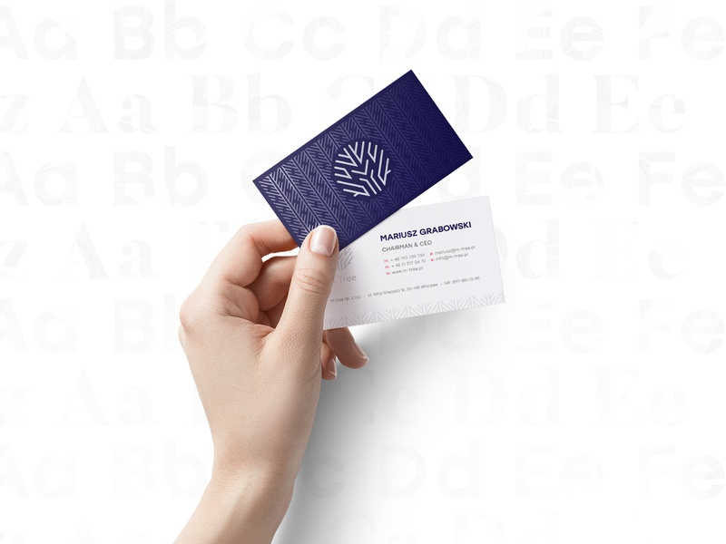 M.Tree yobko creative studio white business card brand branding