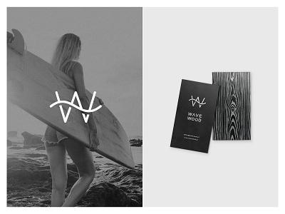Branding for surf-style furniture WAVE/WOOD idea businesscard minimal vanwalko tyshchenko yobko logo branding