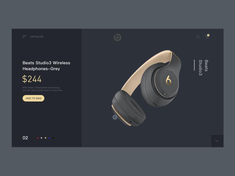 beats购物web 网页设计 网站 移动 ux ui 滑块 促销 简单 店 极简主义 主页 设计 音质 耳机