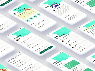 Education App (CBBedaruma) illustration android mobile ios design education creative design mobile ui clean education app mobile app ui design