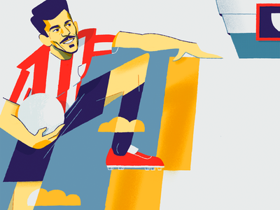 Athletic Club Bilbao: Road to the first football team youngplayer soccer football basquenland character design magazine illustration editorial illustration illustration dani maiz