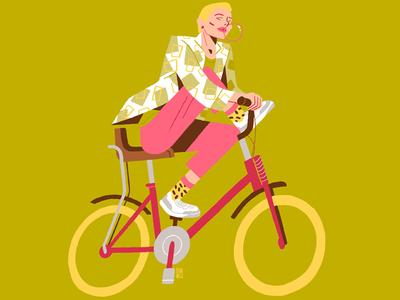 X Generation Girls - Biker and chewing gum chewing gum magazine illustration illustration girl editorial illustration dani maiz colourful biker character design