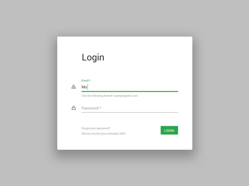 Minimalistic login UI material design material minimalistic flat login screen login ux design ux ui design ui minimal