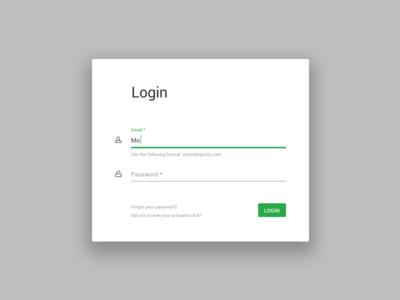 Minimalistic login UI