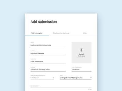 KU add submission form