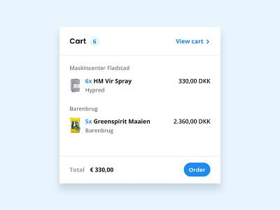 Minicart design agri graphicdesign webapp web userinterface uidesign ux ui minimal flat app design colors app